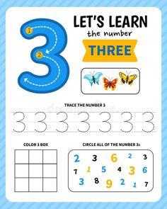 Letter Worksheets For Preschool, English Worksheets For Kids, Numbers Preschool, Learning Numbers, Preschool Math, Kindergarten Worksheets, Toddler Learning Activities, Phonics Activities, Classroom Activities