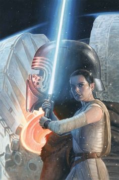 Star Wars: The Force Awakens #6, cover illustrated by Paolo Rivera.