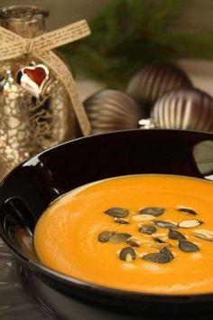 Mézes-balzsamecetes sütőtökkrémleves Cake Recipes, Food And Drink, Soup, Pudding, Meals, Baking, Ethnic Recipes, Desserts, Cakes