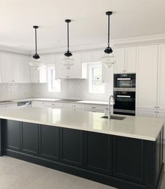 Loving the finished result of my client's gorgeous Hamptons style kitchen. Loving the finished result of my client's gorgeous Hamptons style kitchen. Home Decor Kitchen, New Kitchen, Kitchen Ideas, Island Kitchen, 10x10 Kitchen, Eclectic Kitchen, Kitchen White, Kitchen Trends, Green Kitchen