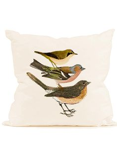 Vintage red breasted bird stack Digital download graphic image for transfer to fabric decoupage paper burlap pillows tote bags cards No. 573. $1.00, via Etsy.