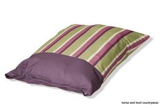Danish Design Rambla Deep Fill Duvet Dog Bed - Vibrant Lime Cream Purple This striking range offers two modern fashionably striped colour-ways of
