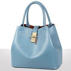 Graceful PU Leather and Solid Colour Design Tote Bag. Big BagsCheap BagsMessenger  BagsLuggage BagsPu LeatherMaineAutumnFemalePurses 74a6204974e72