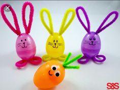 Egg bunnies and a egg carrots