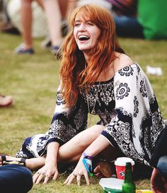 Florence Welch looks festival ready both on-stage and off.