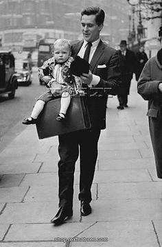 Jeremy Brett (Sherlock Holmes) with son David Huggins