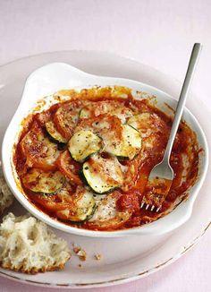 Courgette, tomato and gruyère gratin