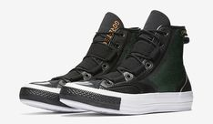 Converse enters the tech wear game with a stylish yet utilitarian take on the Chuck Taylor. The Urban Utility Chuck 70 has a waterproof Gore-Tex membrane Puma Boots, Men's Boots, Pullover Shirt, Expensive Shoes, Mens Gear, Types Of Shoes, Buy Shoes, Comfortable Shoes, Chuck Taylors