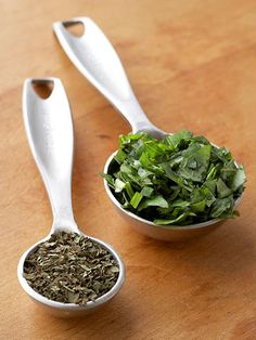 1 tsp dried herbs = 1 tbs fresh herbs