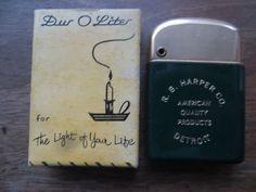 Dur O Liter Advertising Lighter,R.B.Harper Co.Detroit Mi,never Used Mint IN  BOX