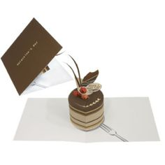 Pop-up Card (Chocolate Cake) - Valentine's Day - Greeting Cards Paper - Gift & Card - Canon CREATIVE PARK. Click on the link for the free template. http://cp.c-ij.com/fr/contents/3053/c00005/index.html