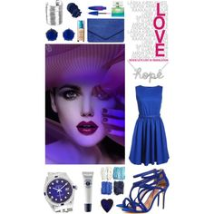 Hope in blue by mirac06 on Polyvore featuring beauty, Illamasqua, Maybelline, L'Occitane, Rolex, Jennifer Meyer Jewelry, NLY Accessories, Dorothy Perkins and Ted Baker