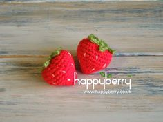 Another free crochet pattern for thee! This time for an adorable strawberry. (^-^)   Very quick and easy to make so here is what you ...