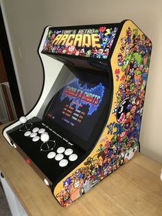 My home made arcade based on RetroPie, arcadeforge kit and I-Pac 2. Got my controls from Focus Attack. Did the graphics myself!