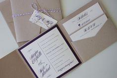 Rustic Wedding Invitation Custom. Kraft. by madisonjennifer