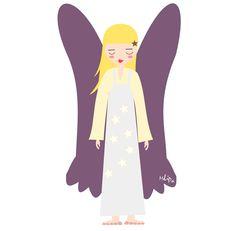 MeinLilaPark: angel Lily / free printable