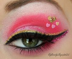 Make a statement with soft pink eyeshadow and pretty heart stickers. Ready for date night? Eyeshadow Tips, How To Apply Eyeshadow, Pink Eyeshadow, Eyeshadow Makeup, Pink Eye Makeup, Simple Eye Makeup, Beauty Makeup, Makeup Style, Valentines Day Makeup