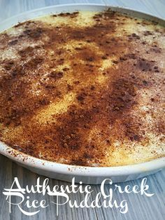 Greek rice pudding recipe: Authentic like Yia Yia - Authentic Greek . - Greek rice pudding recipe: Authentic like Yia Yia – Authentic Greek milk rice I come from Astoria - Greek Rice Pudding, Rice Pudding Recipes, Rice Recipes, Rice Puddings, Rice Custard Pudding Recipe, Apple Recipes, Semolina Pudding, Recipies, Bread Puddings