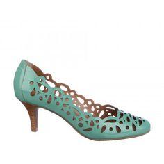 Pantofi Epica turcoaz, din lac