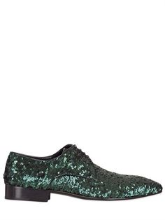 JACQUES MORGAN - SEQUINED DERBY LACE-UP SHOES - LUISAVIAROMA - LUXURY SHOPPING WORLDWIDE SHIPPING - FLORENCE