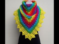 ▶ Crochet Rainbow Shawl Tutorial - YouTube www.bobwilson123.org