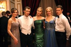 Picture: 'The Vampire Diaries' cast members Susan Walters, Joseph Morgan, Claire Holt, Candice Accola and Zach Roerig. Pic is in a photo gallery for Claire Holt featuring 74 pictures. Vampire Diaries Enzo, Vampire Diaries Spin Off, The Vampires Diaries, Vampire Diaries Fashion, Vampire Diaries Seasons, Vampire Diaries Wallpaper, Vampire Diaries The Originals, Caroline Forbes, Joseph Morgan