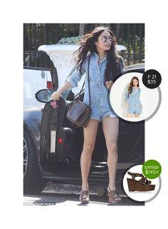 Vanessa Hudgens out in LA - seen in Forever 21. #forever21  #vanessahudgens @dejamoda