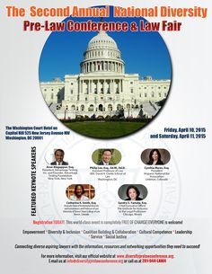 Hear from and interact with some of the best legal minds in the country who are committed to diversity in American law schools and in the legal profession. Participate in an exclusive 2-day event designed to inspire and empower diverse aspiring lawyers!  See more at: http://diversityprelawconference.org/ #diversity #prelaw #diversityprelawconf