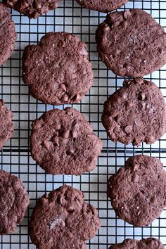 Salted Fudge Chocolate Chocolate Chip Drop Cookies — Taste Of Well-Being