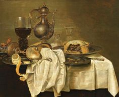 Willem Claesz Heda, STILL LIFE WITH ROEMER AND PIE, Auction 947 Old Masters, Lot 1070
