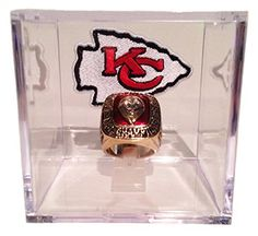 Kansas City Chiefs 1966 Championship Ring In Display Cube - QB Len Dawson Replica w/ Logo Patch - Great Chiefs Football Memorabilia by Championship Rings via https://www.bittopper.com/item/kansas-city-chiefs-1966-championship-ring-in-display-cube/minoman09d8/