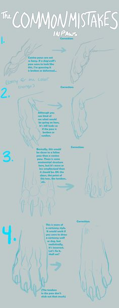 The Common Mistakes in Paws by =Awentia on deviantART
