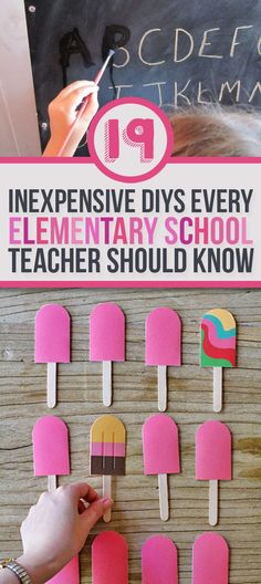 19 Ridiculously Simple DIYs Every Elementary School Teacher Should Know.