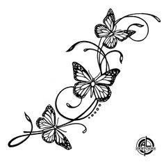 Cute Tattoos On Wrist, Small Shoulder Tattoos, Hand Tattoos, Small Tattoos, Butterfly Tattoos For Women, Butterfly Tattoo Designs, Feminine Thigh Tattoos, Henna Inspired Tattoos, Tatuagem Diy
