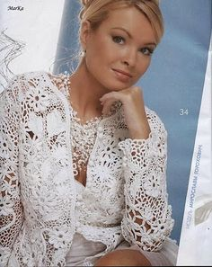 Letters and Arts of Lala: crochet white blouse