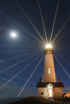 """Que la Luz de Dios, del faro, de la luna ilumine nuestro camino y brillé siempre en nuestra vida conduciéndonos a """"puerto seguro""""!.....""""Shanti Nilaya""""...."""