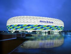 Allianz Arena in Germany home of Bayern Munich.