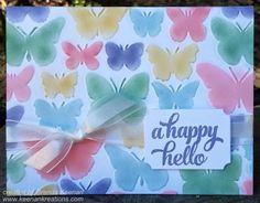 Pastel Fluttering Butterflies
