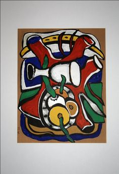 Fernand LEGER : Lithographie : Nature morte aux pommes ۩۞۩۞۩۞۩۞۩۞۩۞۩۞۩۞۩ Gaby Féerie créateur de bijoux à thèmes en modèle unique ; sa.boutique.➜ http://www.alittlemarket.com/boutique/gaby_feerie-132444.html ۩۞۩۞۩۞۩۞۩۞۩۞۩۞۩۞۩