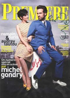 Romain Duris, Audrey Tautou - Premiere Magazine Cover [France] (April 2013)