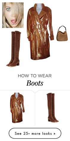 """Brown Boots"" by tinaground on Polyvore featuring Adele Simpson, Dolce&Gabbana and UGG"