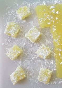 Lemon Turkish Delight – Alison's Wonderland Recipes – cooking recipes Lemon Curd Dessert, Lemon Recipes, Sweet Recipes, Lemon Candy Recipe, Bonbon Fruit, Cocina Natural, Turkish Recipes, Turkish Snacks, Turkish Sweets