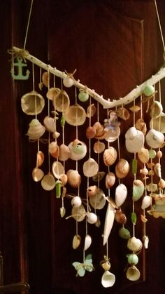 Wind Chimes, Outdoor Decor, Home Decor, Seashell Mobile, Decoration Home, Room Decor, Interior Design, Home Interiors, Interior Decorating
