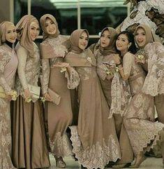65 Ideas wedding party outfits friends for 2019 65 Ideas wedding party outfits friends for 2019 Dress Brukat, Hijab Dress Party, Hijab Style Dress, Muslimah Wedding Dress, Muslim Wedding Dresses, Kebaya Muslim, Muslim Dress, Model Kebaya, Dress Pesta