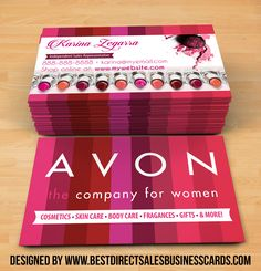 Awesome AVON Business Card Template by using high resolution