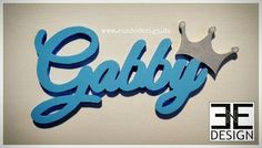 """GABBY"" - customized styrofoam Lettering, handmade walldecor, cut out, shaped & painted by E&E DESIGN GbR, 54292 Trier www.eundedesign.com www.facebook.com/eundedesign www.instagram.com/eundedesign"