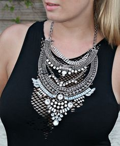 Glamorous Over The Top Statement Necklace #happinessbtq