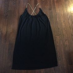 Flash Sale!!!  LBD with sexy gold chain straps LBD with sexy gold chain straps. The straps cross in the back. Perfect dress for a night out!! RACHEL Rachel Roy Dresses