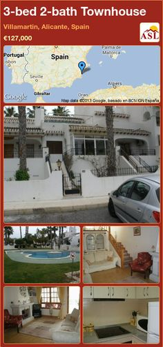 3-bed 2-bath Townhouse in Villamartin, Alicante, Spain ►€127,000 #PropertyForSaleInSpain