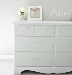 how to paint furniture DIY - Diy Interior Design Furniture Redo, Furniture Projects, Home Projects, Repainting Furniture, Refinished Furniture, Modern Furniture, Antique Furniture, Wood Dresser, White Furniture